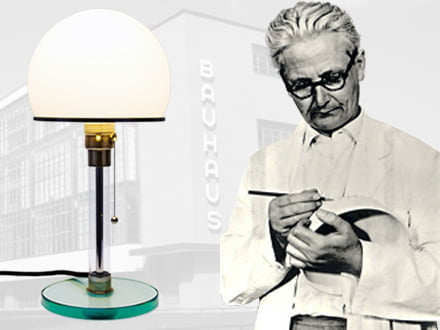 Wilhelm Wagenfeld   Designer Der Leuchten WG24, WA24, WG25