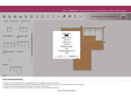 einrichtungsplaner im test: kostenlose online-tools, Wohnzimmer