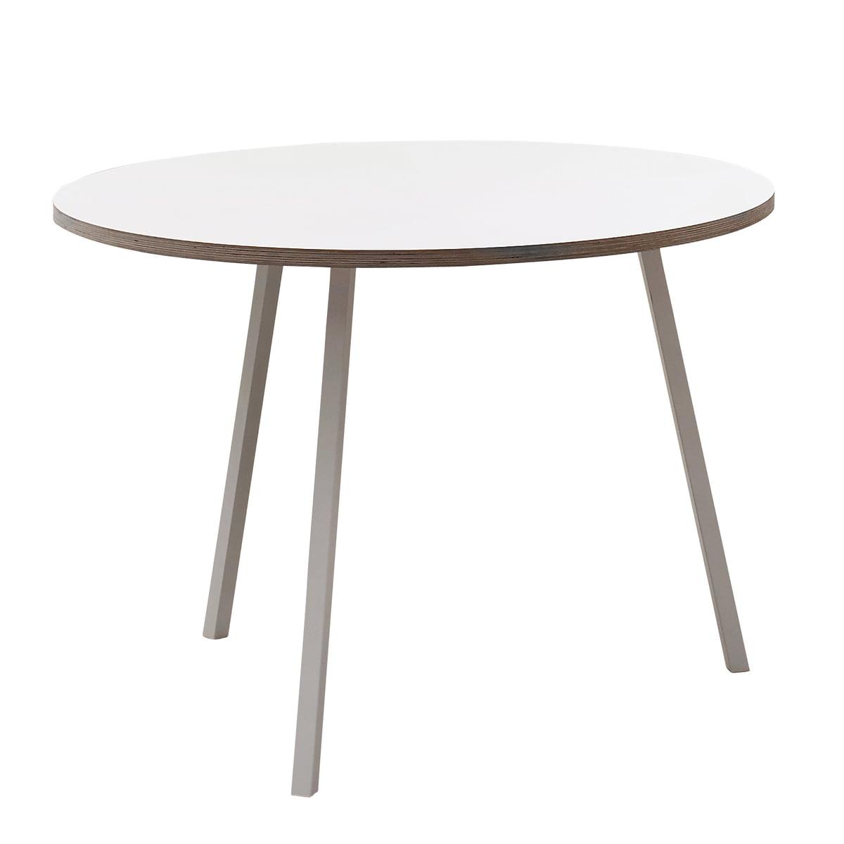 hay loop stand round table wei - Runder Kuchentisch Weis