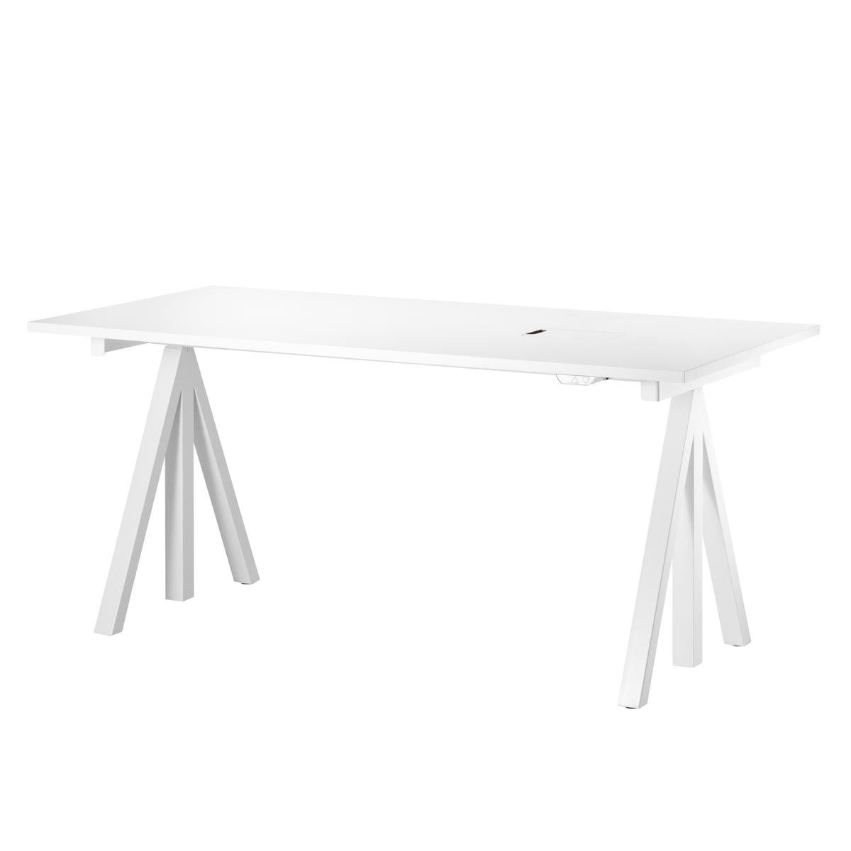 Schreibtischplatte weiß  Works Schreibtisch von String | connox.at