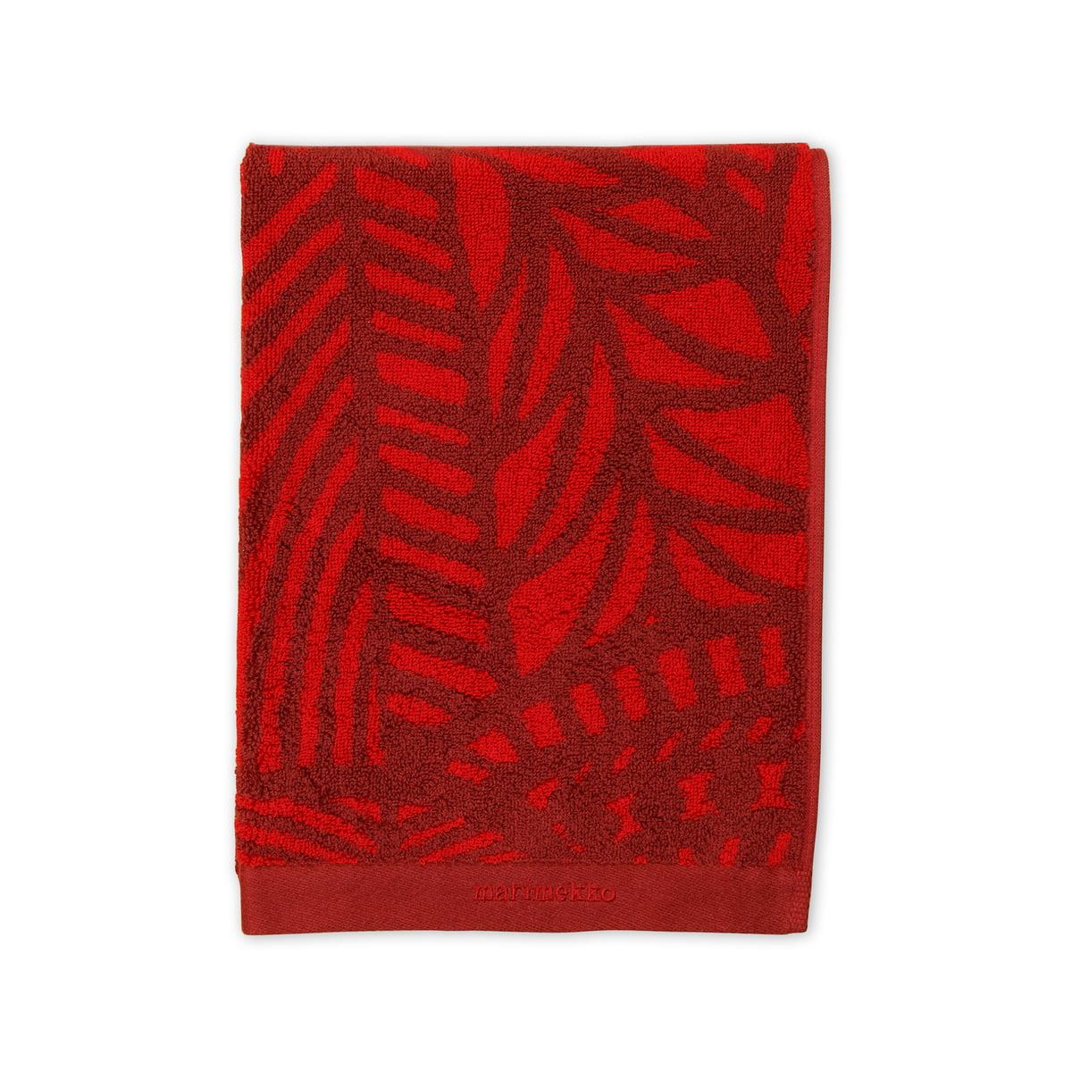Marimekko vuorilaakso handtuch 50 x 100 cm rot dunkelrot.jpg