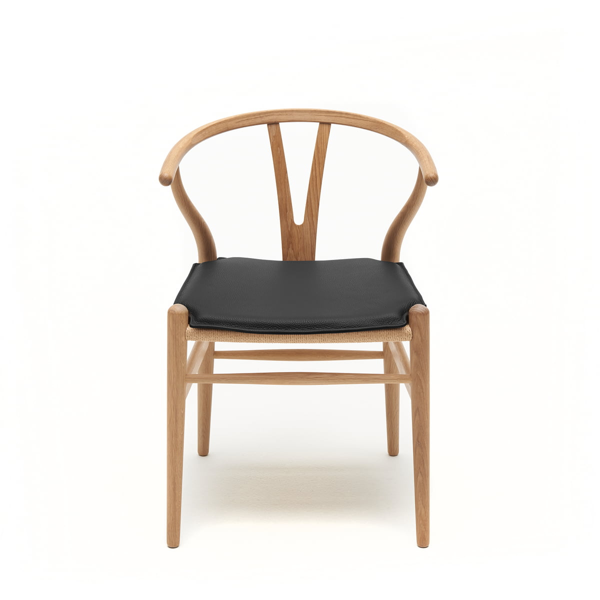 leder kissen f r ch24 wishbone chair von carl hansen. Black Bedroom Furniture Sets. Home Design Ideas