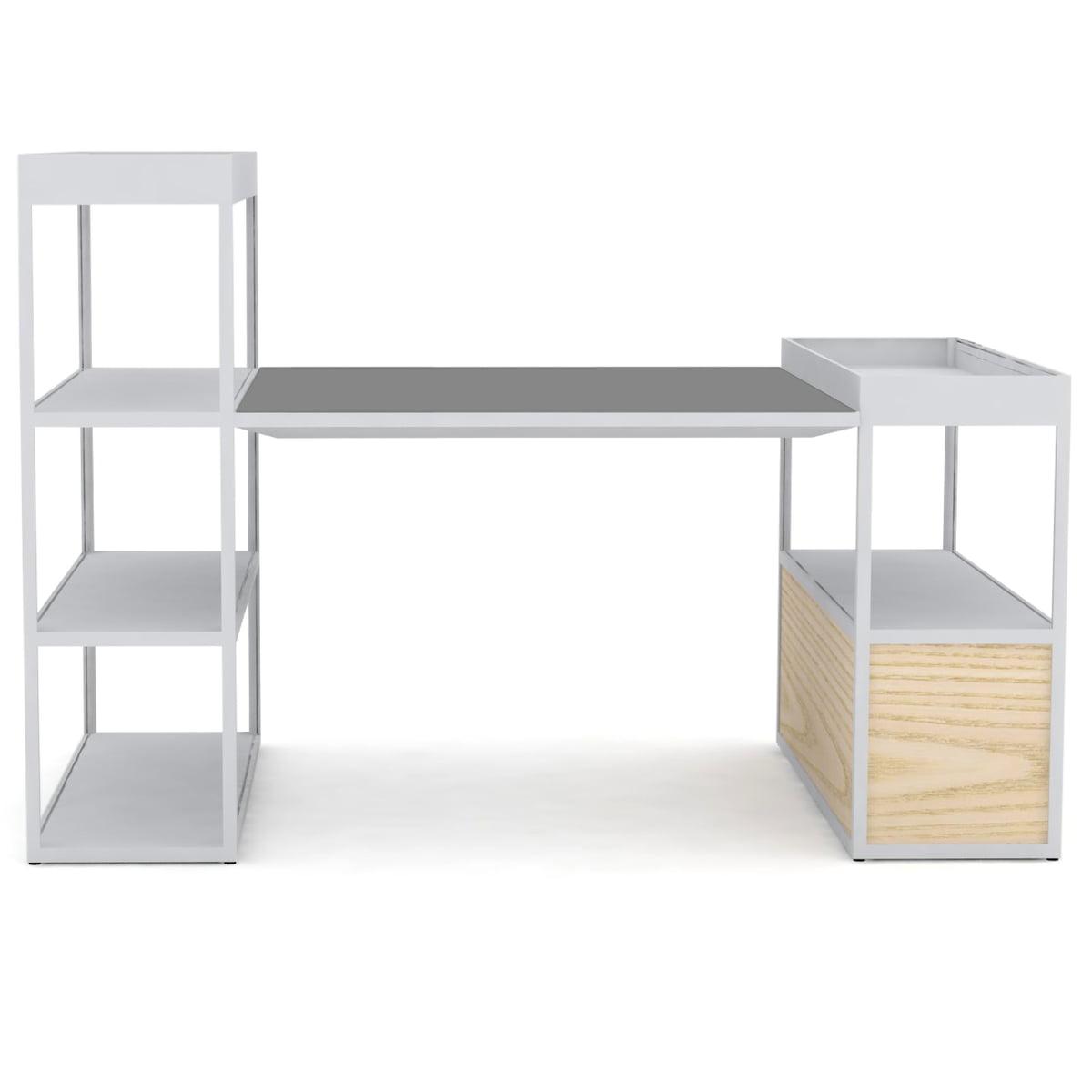 new order shelf with table von hay. Black Bedroom Furniture Sets. Home Design Ideas