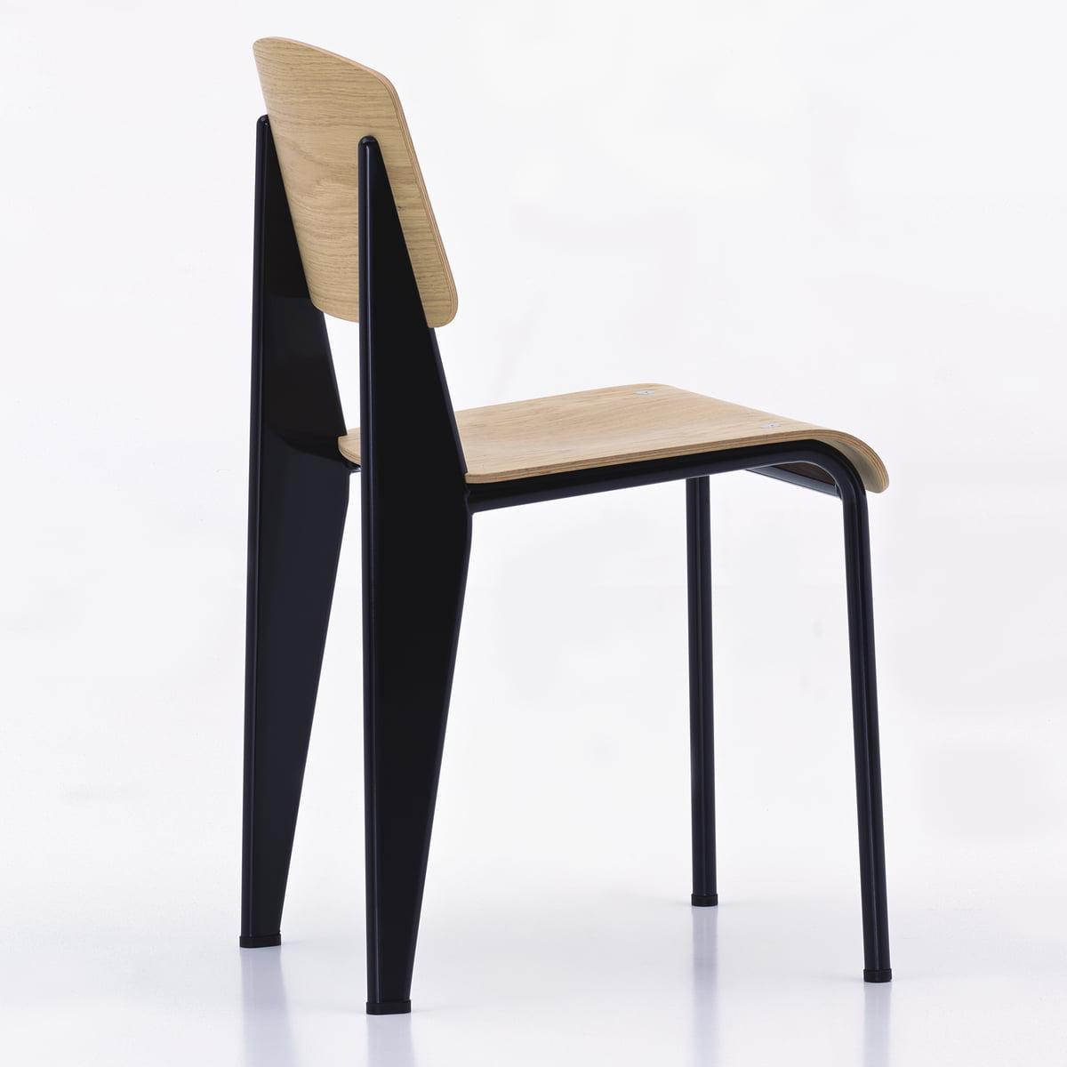 Vitra   Standard Stuhl, Eiche Hell, Schwarz   Rückseite