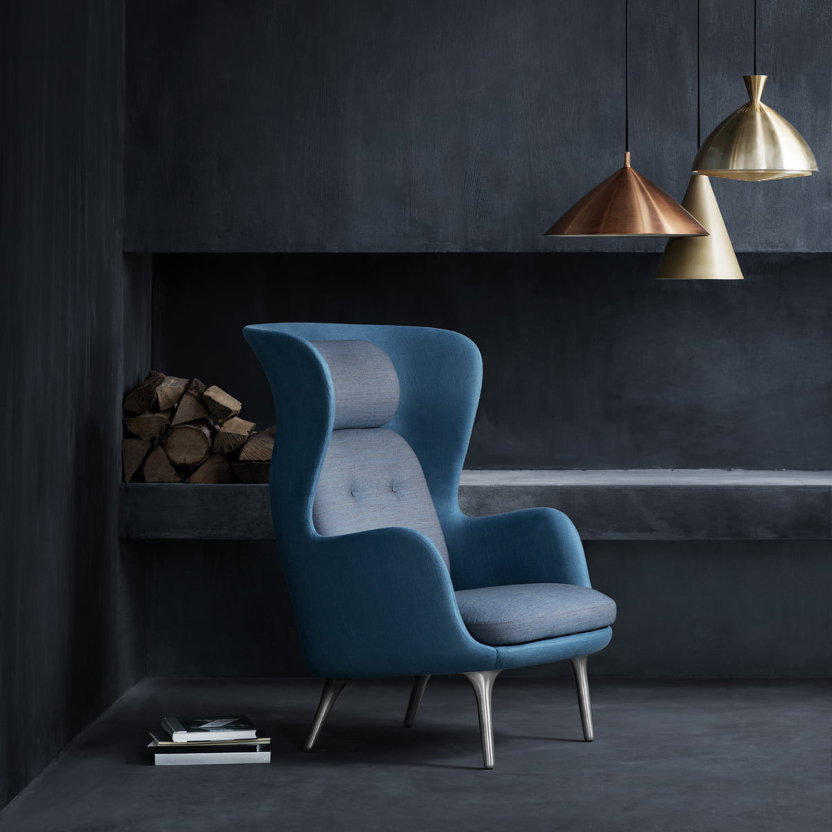 Fritz hansen ro sessel bei for Peindre salon 2 couleurs