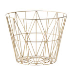 ferm Living - Wire Basket Medium, messing