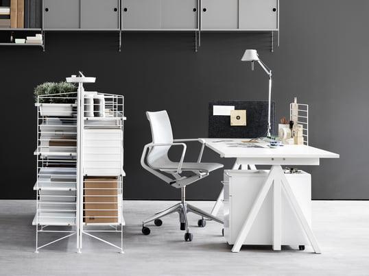 Perfekt Die String Works Kollektion Des Skandinavische Hersteller Umfasst Eine  Auswahl Flexibler Büromöbel. Vom Schreibtisch Bis
